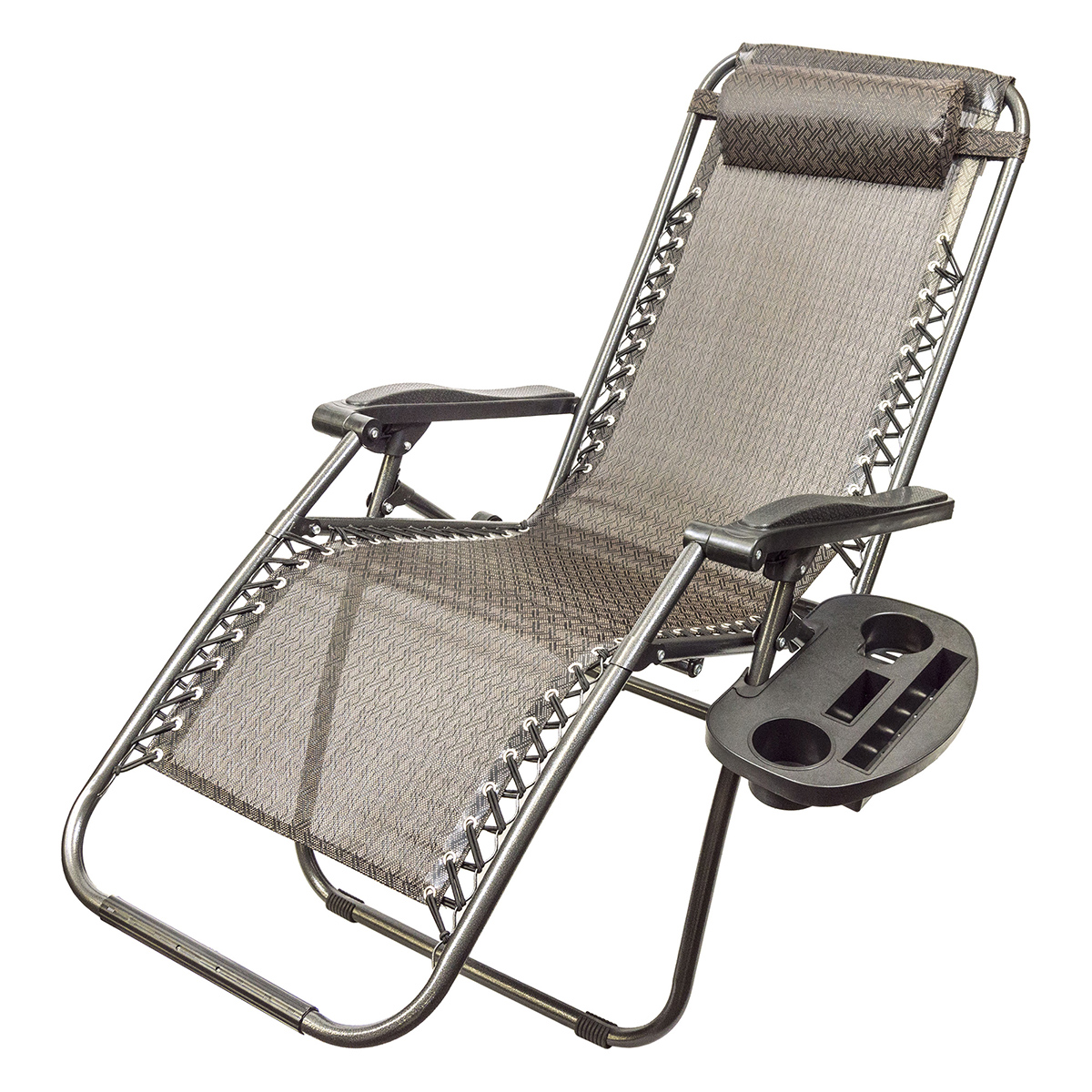 Zero Gravity Folding Patio Chair with Drink Holder