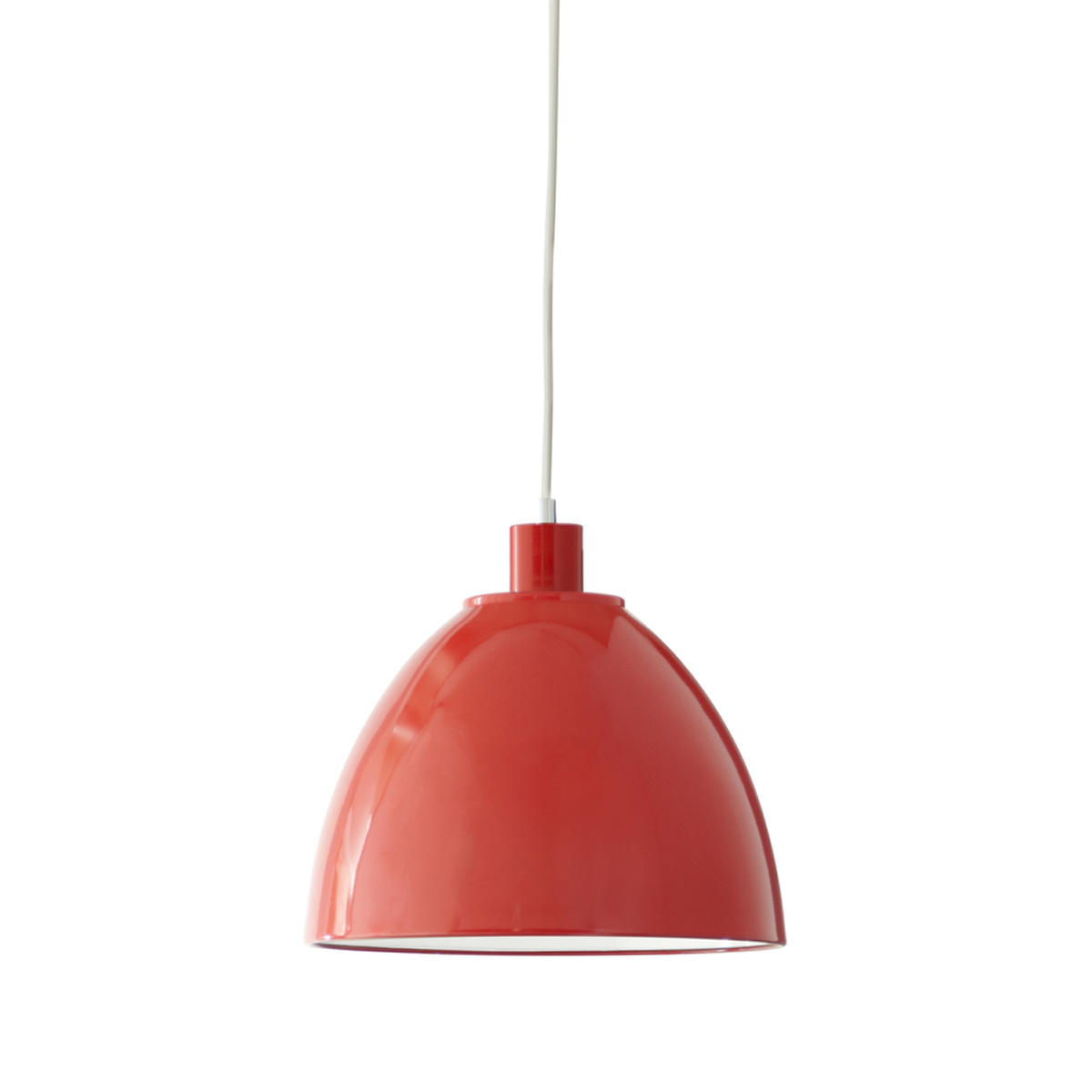 Metal Pendant Light, Red