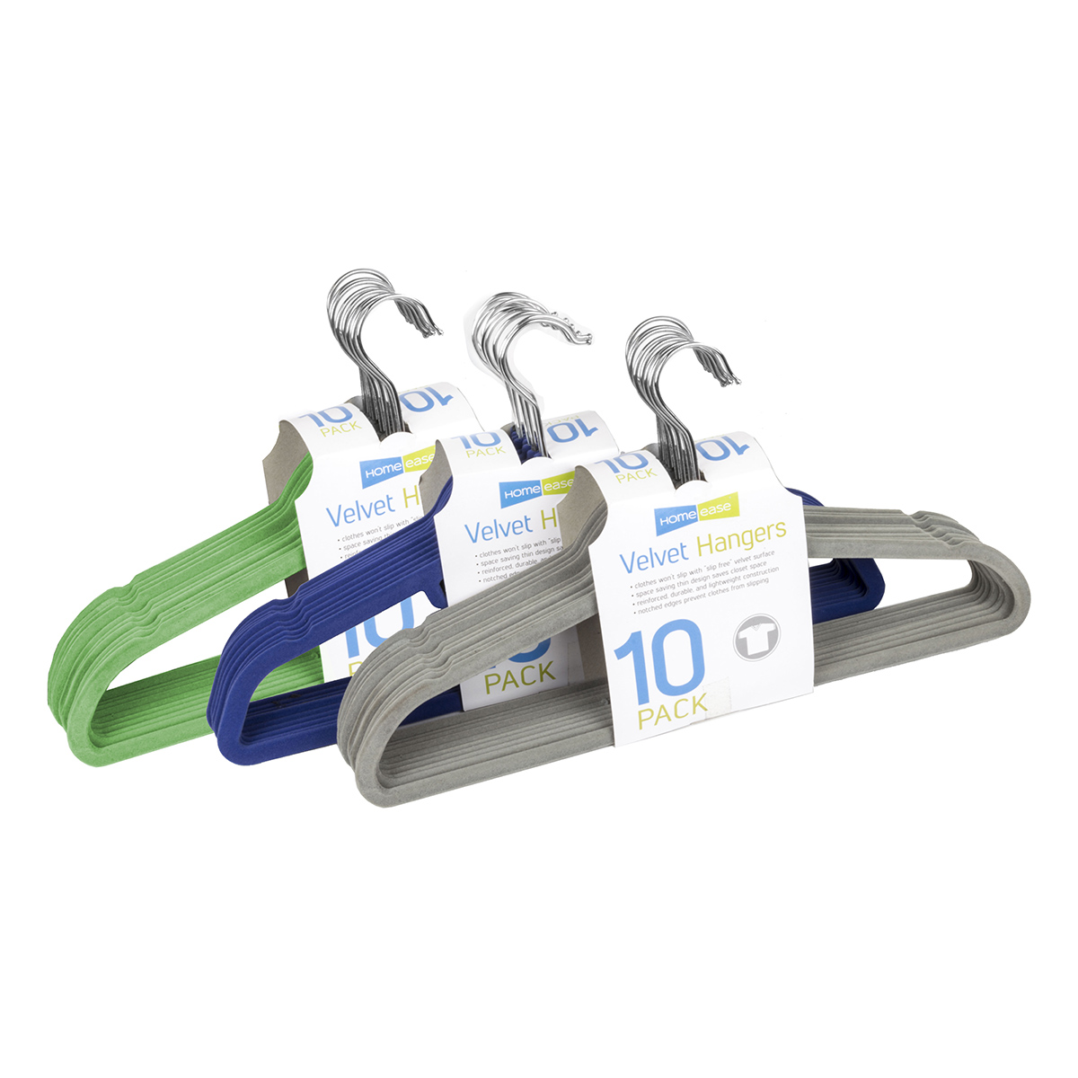 10 Pack Hangers, Assorted Colors