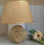 14.17 INCH CARVED WOOD LAMP - 1816438