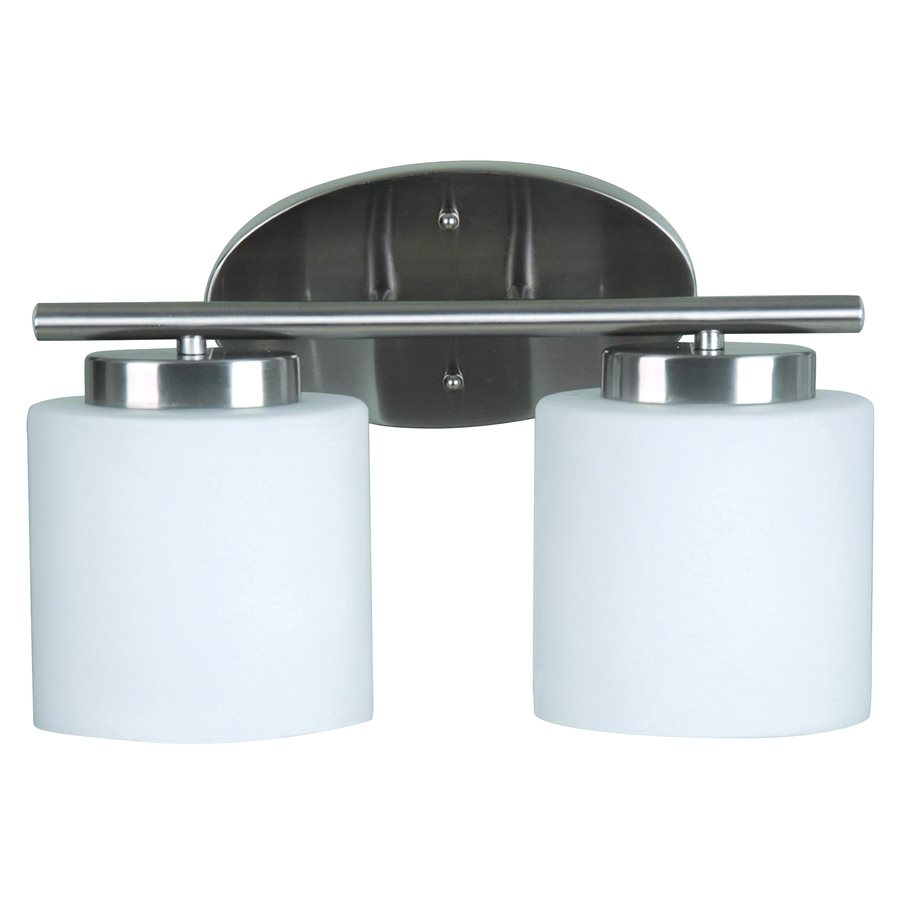 Catalina Lighting 2 Light Vanity Bar, Satin Nickel