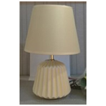 11.75 INCH YELLOW WITH WHITE RIDGE LAMP - 18HY015A5