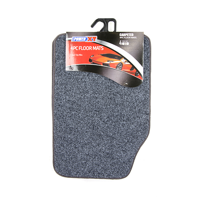 4 Piece Car Mat, Grey