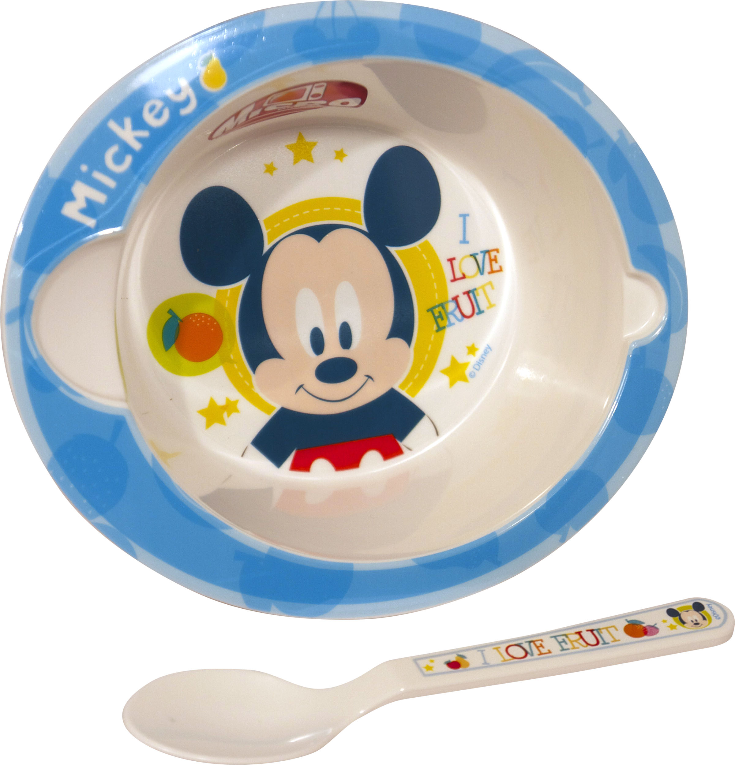 Kids 2 Pc Microwave Bowl and Spoon Set Boys