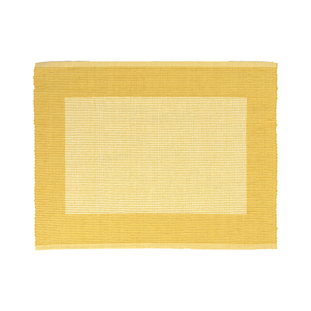 Moda at Home Border Rib Cotton Reversible Placemat, Gold