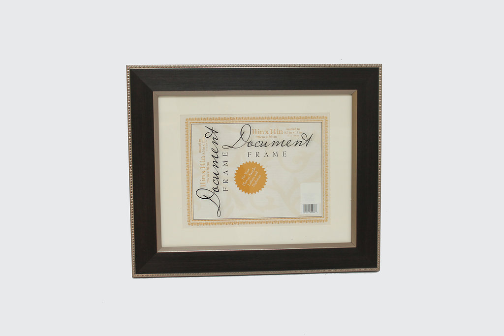 11 X 14 Espresso Color Document Frame