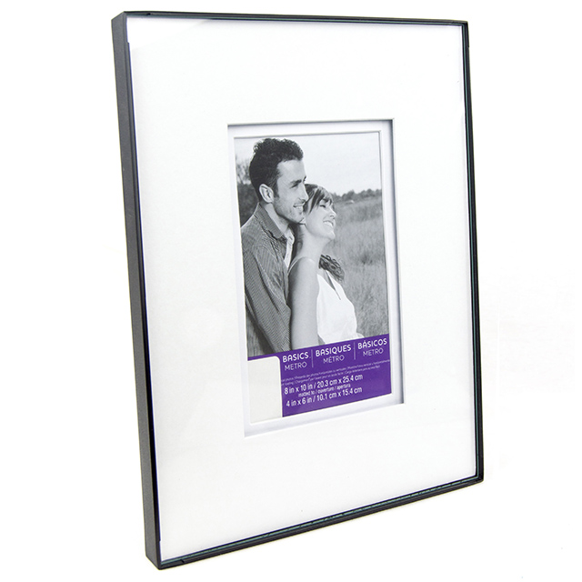 8 x 10 Metal Frame Shadow Mat Frame with 4 X 6 Opening