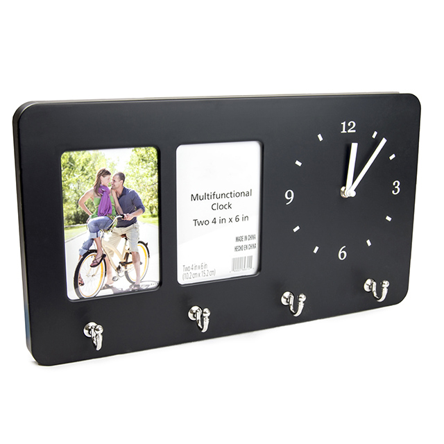 3-in-1 Clock, Frame and Hook Organizer