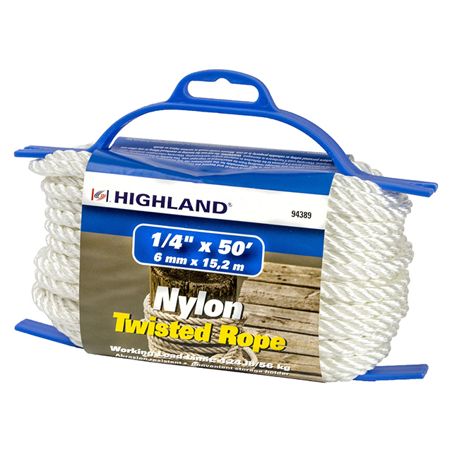 50 ft Nylon Twisted Rope