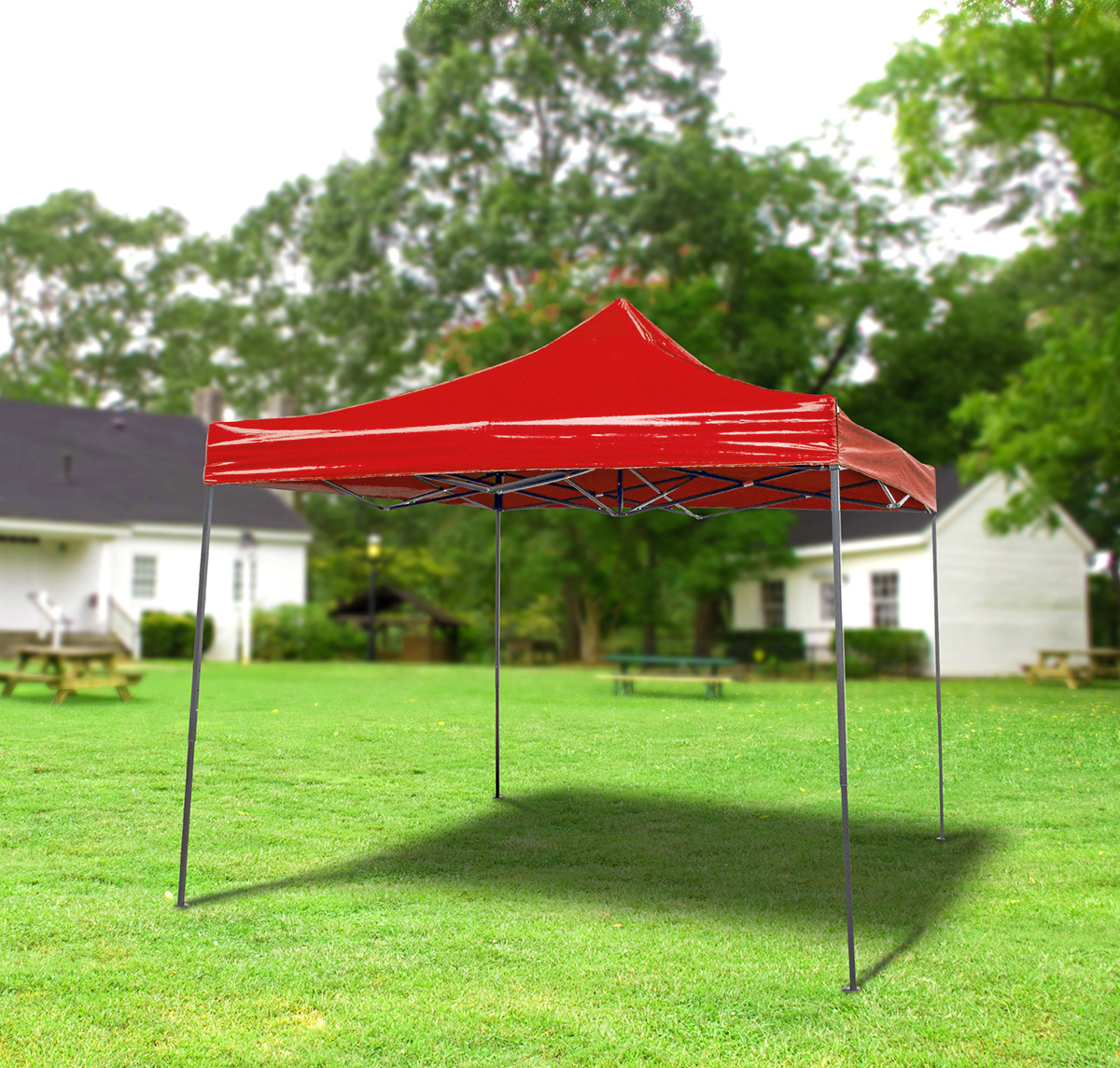 10 x 10 Pop Up Gazebo Canopy Red