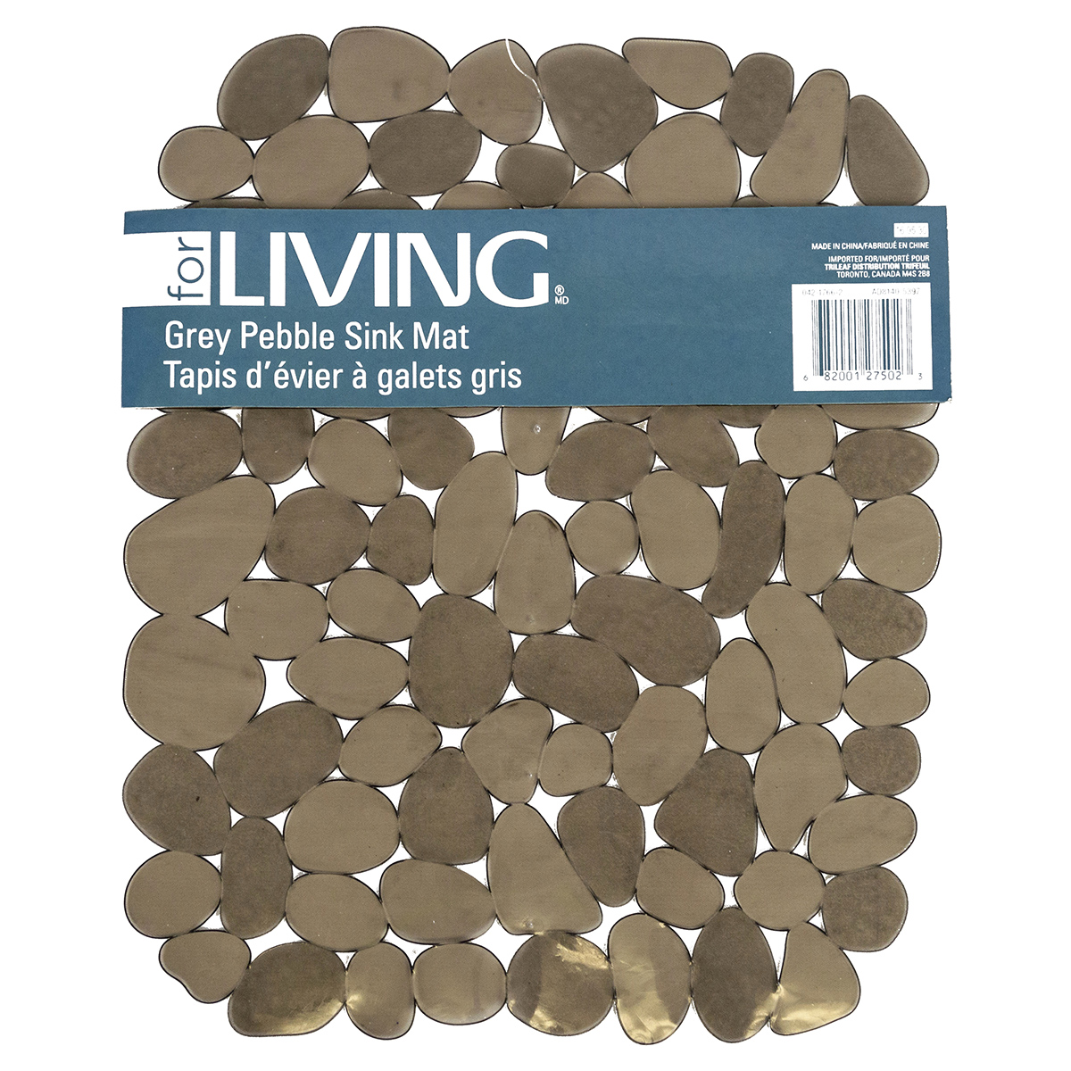 For Living Grey Pebble Sink Mat