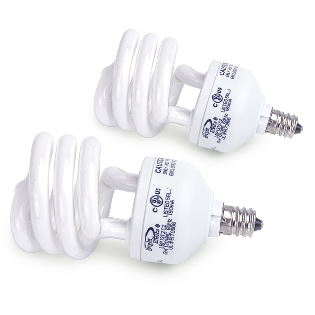 Bright Effects 2 Pack 13-Watt MiniTwist CFL Ceiling Fan Bulbs
