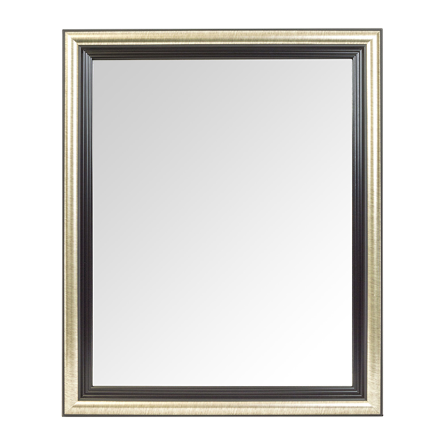 19 X 22 Inch Door Mirror, Black and Silver
