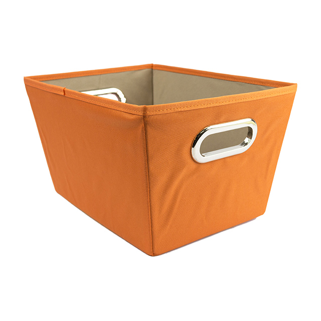Honey Can Do Small Tapered Storage Bin, Orange