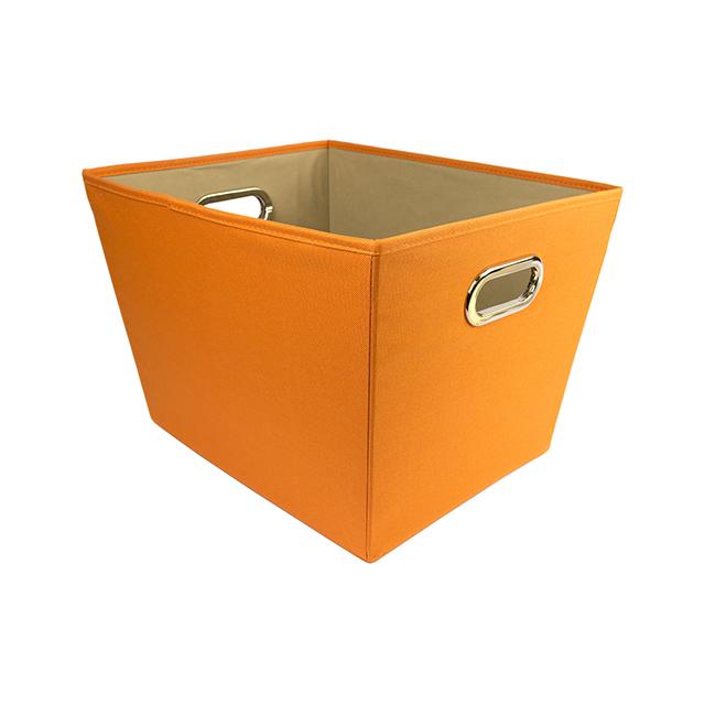 Honey Can Do Medium Tapered Storage Bin, Orange