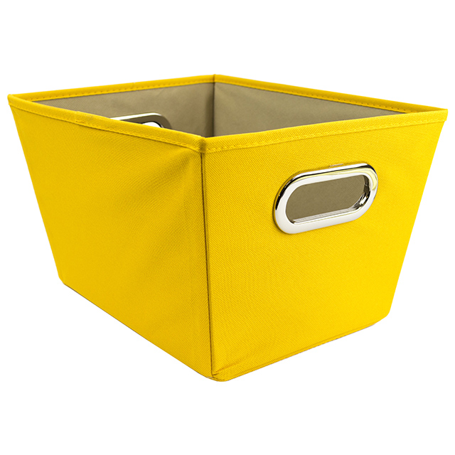 Honey Can Do Small Tapered Storage Bin, Yellow