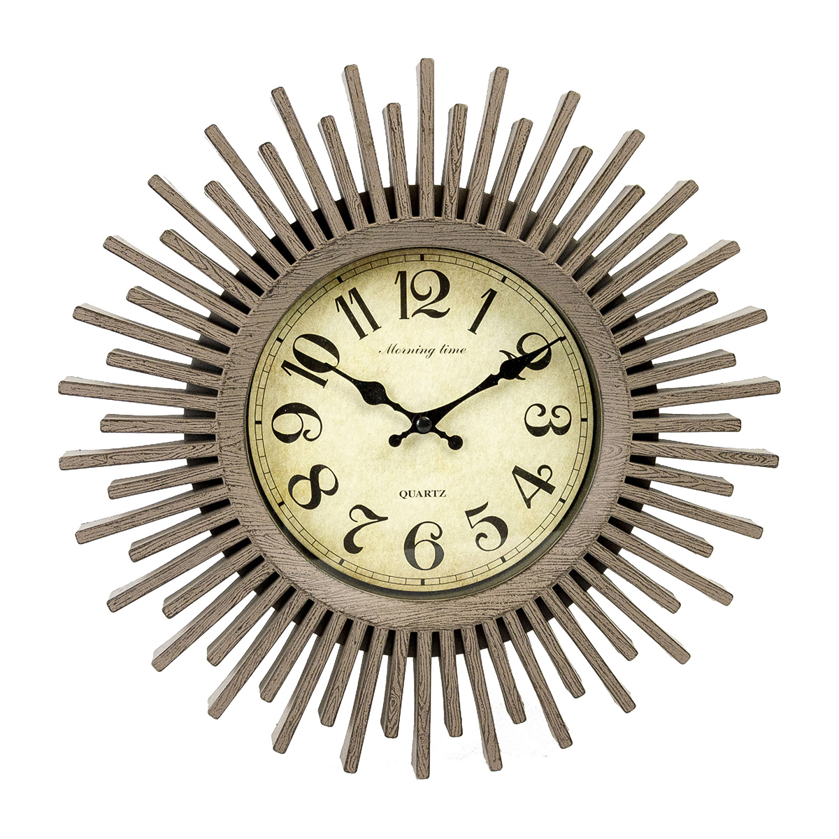 12.5 inch Wall Clock, Wood