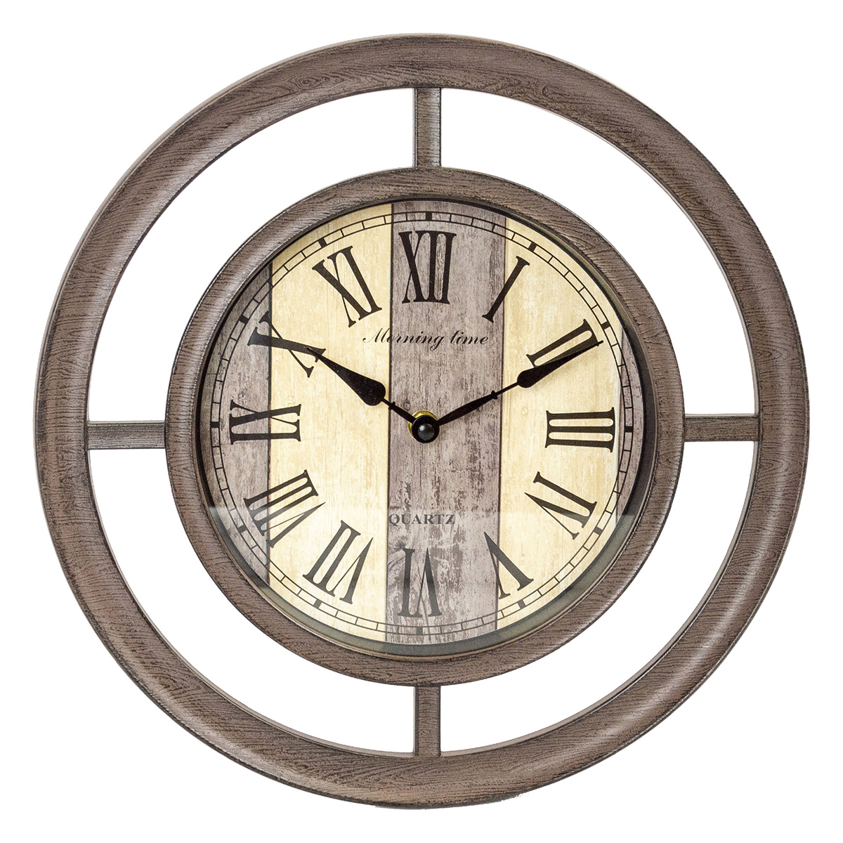 12.5 inch Wood Circle Wall Clock