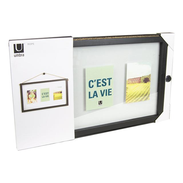 Umbra Multi Photo Frame with Rope Hanger, Black | Strategic ...